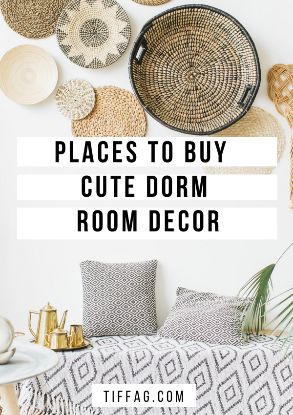 Places to buy cute and trendy College dorm decor